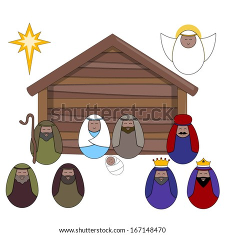 nativity vector illustrations