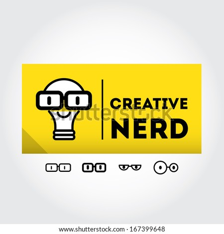 funny nerd sign with glasses
