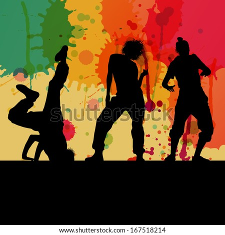 girl dance silhouette vector