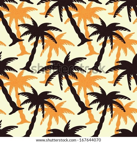 seamless pattern with coconut