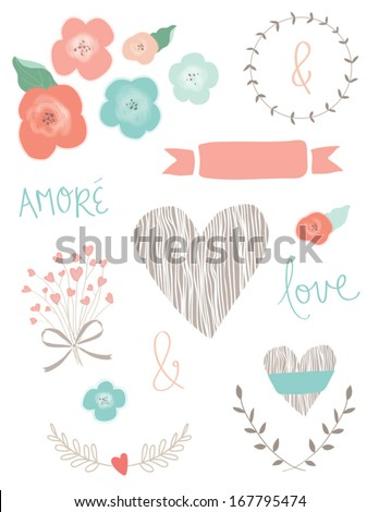 wedding collection of vector