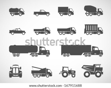 truck iconsvector