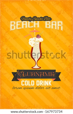 drink bar flyer poster