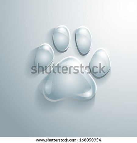 glass cat's paw print