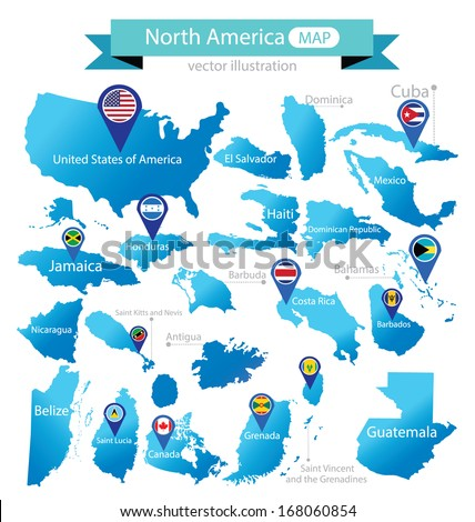 map of north america country