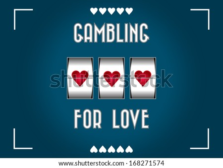 slot machine greeting card