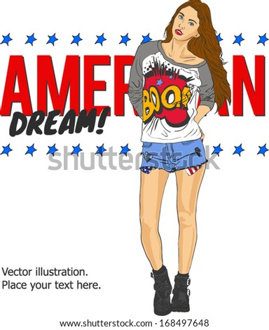 vector fashion illustration