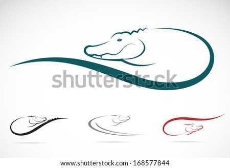 vector image of an crocodile on