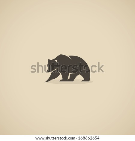bear symbol   vector