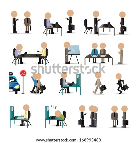 business peoples   isolated on