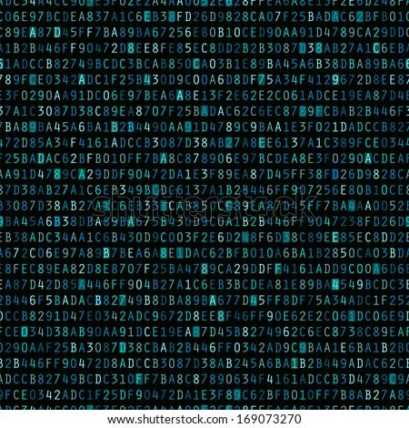 blue hexadecimal computer code