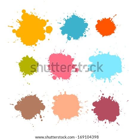 colorful retro vector stains