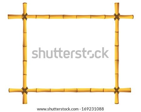 wooden frame of old bamboo
