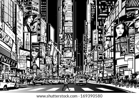vector illustration of a street