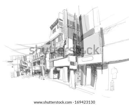 vector street sketching