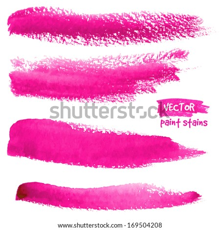 bright pink vector brush