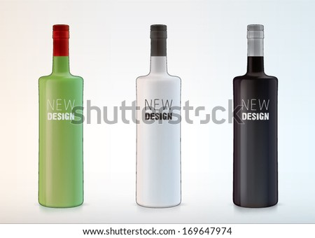 vector blank bottles for new