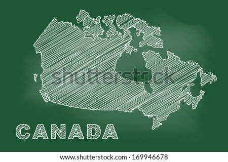 scribble sketch of canada map