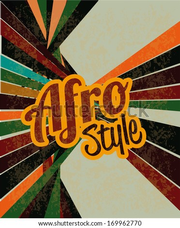 afro style design over grunge