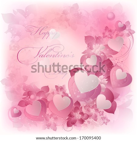 valentine's background with