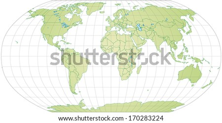map of the world with borders