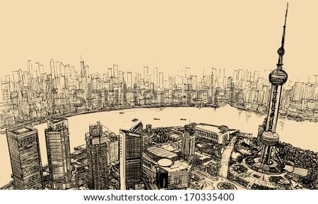vector illustration   aerial