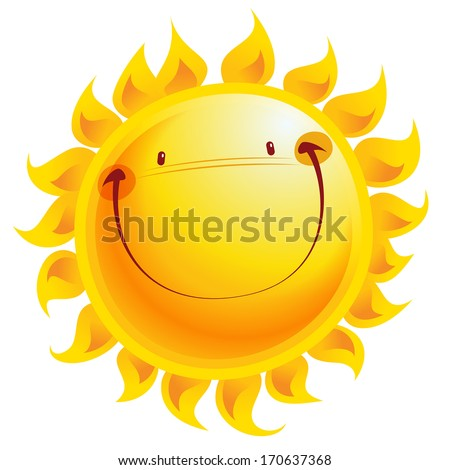 shining yellow smiling sun