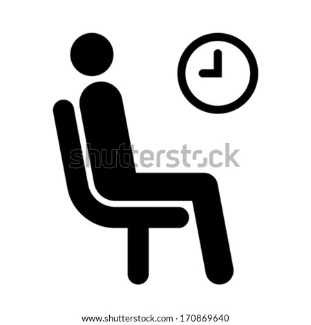 waiting room symbol isolated on