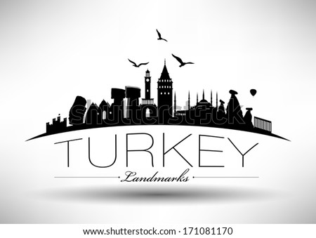 modern turkey country skyline