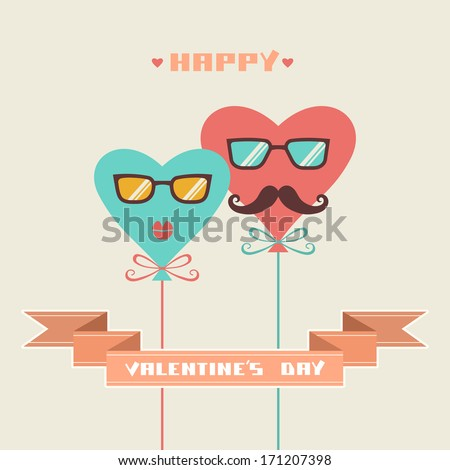 greeting card  with balloons of