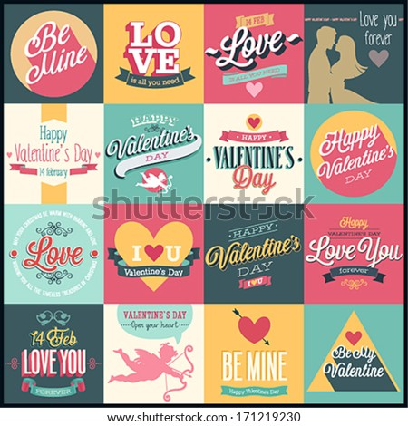 valentine s day set   labels
