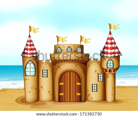 illustration of a castle at the