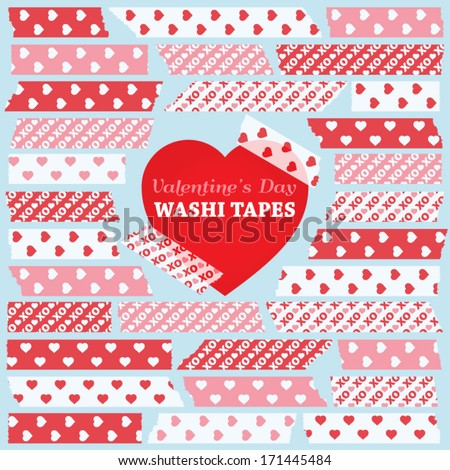valentine's day washi tape