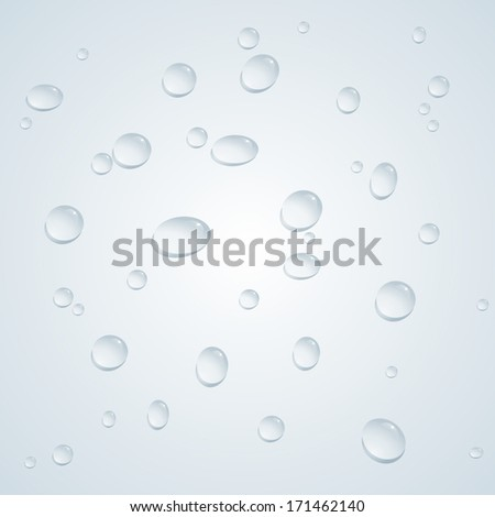 vector water drops background