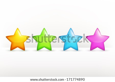 stars icon set  vector