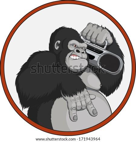 vector illustration  monkey