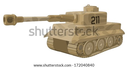 tank  ww2     vector artwork