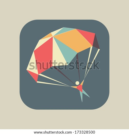 abstract flat geometric icon