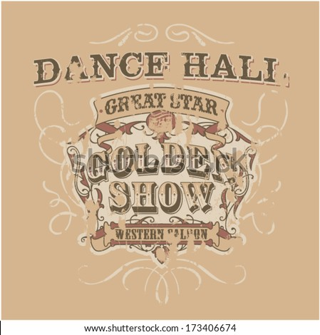 dance saloon   vector artwork