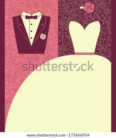 wedding card in elegant style