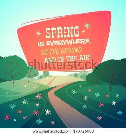 spring landscape vector