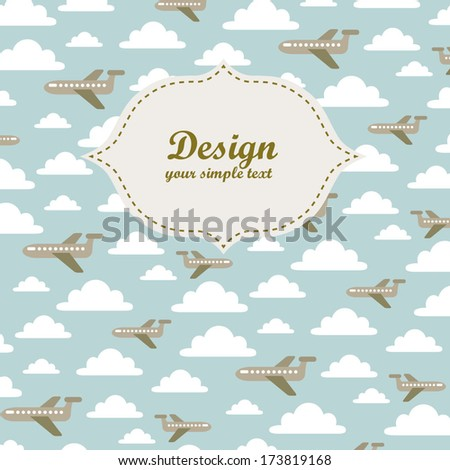 plane and clouds pattern