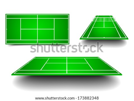 detailed illustration of tennis