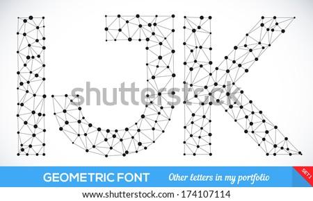geometric type font  geometric