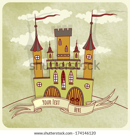illustration of an old castle
