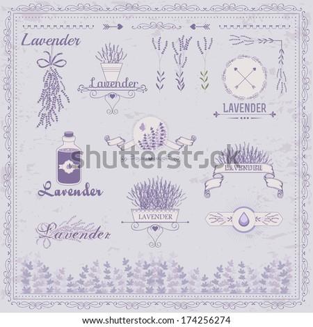 vintage lavender background