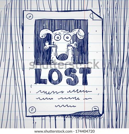 missing dog poster  doodle