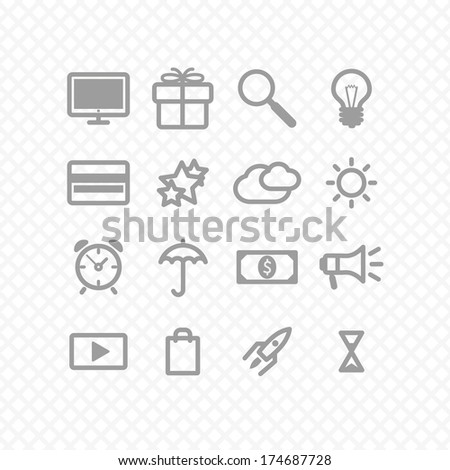 set icons two social media