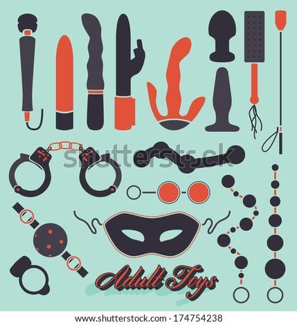 vector set  adult sex toys