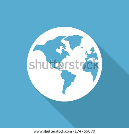 flat icon with shadow vector